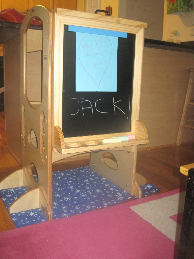 The learning tower chalk board.