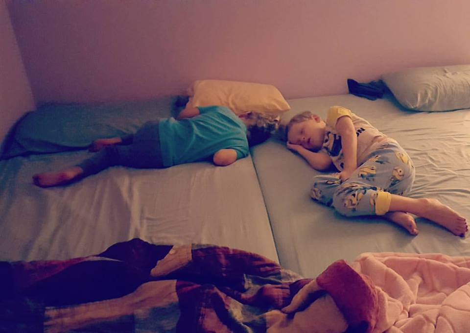 Abby Theuring, The Badass Breastfeeder's boys cosleeping, bed sharing.